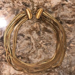Vintage Monet Brilliant Gold 8 Strand Necklace